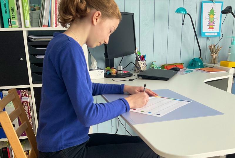 Une bonne posture pour écrire