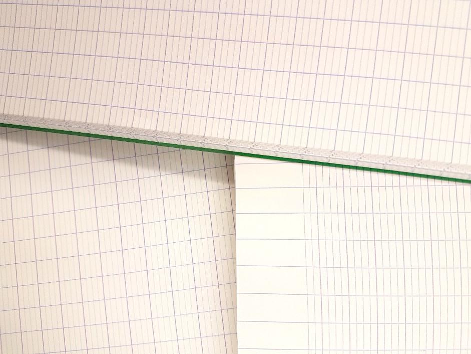 cahier avec lignage séyès mono et bicolore